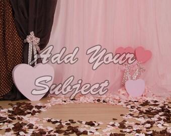 Digital Valentine Photo Background Download Backdrop