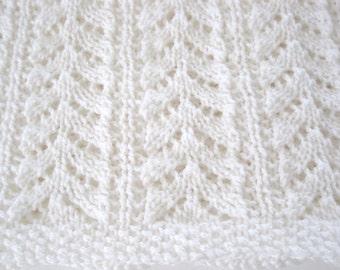 Hand Knitted Baby Blanket, Soft, Baby Afghan, Baby Shower, Newborn, Christening