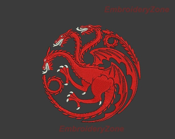 Logo House Targaryen Game Of Thrones Embroidery Design For
