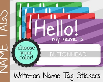 10 Hello My Name Is Stickers Name Tags - Party Class Family Reunion Name Tags Stickers - Sticker Name Tags