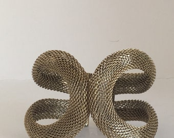 Fantastic Rate 1960's Large gold mesh cuff Free Shipping