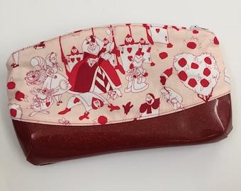 Sparkle Bottom Makeup Bag, Makeup Pouch, Zipper Bag, Zipper Pouch, Pencil Pouch, Pencil bag