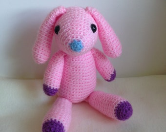 Crocheted animal Koko Bunny