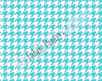 Riley Blake - Medium Houndstooth Quilt Fabric - Aqua C970-20  - Sold by the 1/2 Yard