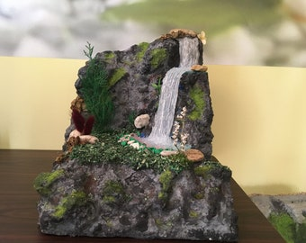 Handmade waterfall landscape