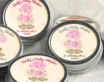 12 Personalized Tiger Baby Shower Mint Tins - Tiger Baby Shower Favors - Tiger Favor - Baby Shower Decor - Safari Jungle Favor
