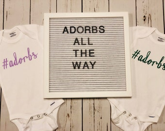 Adorbs Baby Onesie, Adorable baby onesie, baby girl onesie, Baby Shower Gift, Coming Home Onesie, baby girls' clothing, bodysuits, clothing,