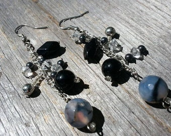 Handmade Dangle Earrings Made w/ Vintage Materials