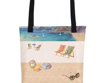 The Nostalgic Riviera - Nstilla Tote Bag of Italian inspiration