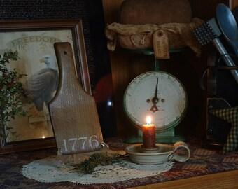Primitive, Country, Farmhouse, Wood, 1776, Butter, Lard, Paddle, Kitchen, Utensil