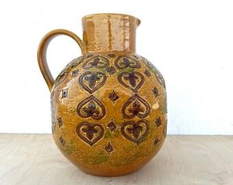 "Bitossi jug vase ...XXL ... ""Moresco"" range ... Aldo Londi ... vintage italian ceramics ... 1960s ... Alla Moda"