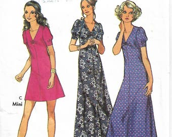 "Sewing pattern - Dress Pattern - MiniDress Pattern - Women Sewing Pattern, Size 14, Bust 36"" - vintage pattern"