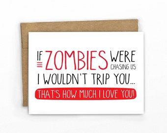 Funny Love Card | Anniversary Card | Funny Valentine's Day Card | Zombie Card by Cypress Card Co.