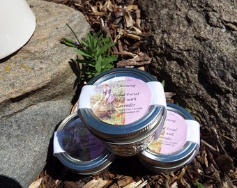 Soothing Herbal Facial Scrub with Lavender