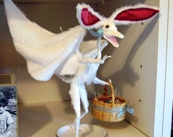 Robbie the Rabbit Dragon, Not your average Easter Bunny - Dragon Art Doll