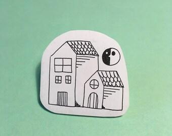 Handmade House Pin