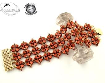 English pattern for the Astrisk *** Lace Bracelet