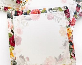 Spring Florals Sticky Notepad