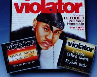 LL COOL J Rap Hip Hop Wall Art Framed Promo Vinyl Record & 2 CDs A Tribe Called Quest, Mystikal, Dirtbag Busta Rhymes Erica Badu Unisex Gift