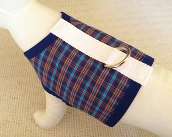 Plaid Dog Harness Vest