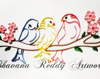 Quilled Art - Birds of a feather