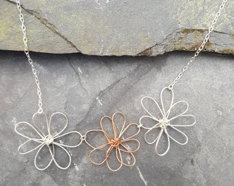 Daisy Chain Necklace, Flower Necklace