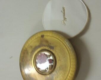mirror, compact, old, vintage,