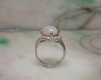 Lavender jade ring, jade ring