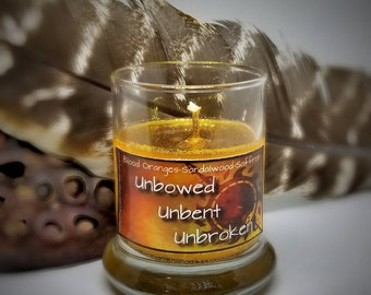 Unbowed Unbent Unbroken (House Martell Game of Thrones) Glitter Soy Mini Candle 1.5oz