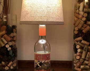 Lost Angel, Wine Bottle Lamp (750ml Bottle)