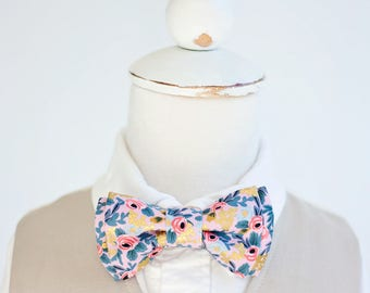 Bow Tie, Bow Ties, Boys Bow Ties, Baby Bow Ties, Bowtie, Bowties, Ring Bearer, Wedding Bow Ties, Rifle Paper Co - Rosa In Violet