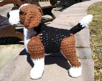 Beagle PDF Crochet Pattern - Digital Download - ENGLISH ONLY