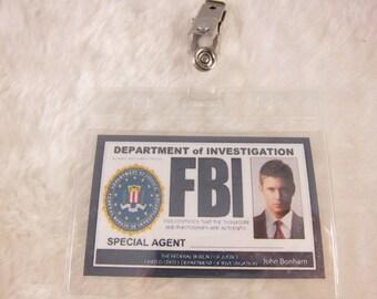 Supernatural Inspired FBI Badge  - Dean