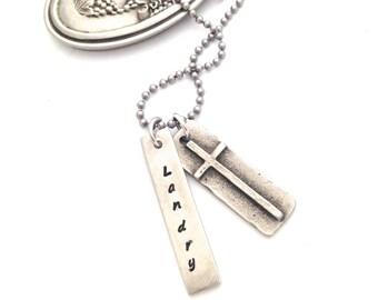 Boys Cross Necklace. Communion Necklace. Boys Communion. First Reconciliation. Baptism. Confirmation. Boys Necklace