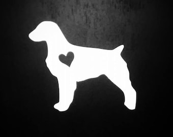 Brittany Spaniel Decal, Brittany Dog, Spaniel Sticker, Laptop Decal, Dog Decal, Dog Sticker, Yeti Decal, Pet Accessories, Vinyl, Ipad Decal