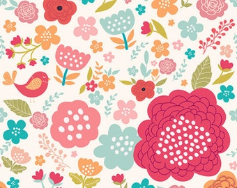 PRINTS ILLUSTRATIONS Floral colorful pattern with beautiful flowers. Fine art prints. Illustrations for kids.