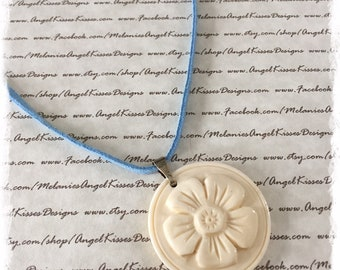 Summer Suede Collection- Sky Ivory Flower