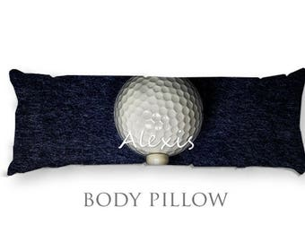 Golf Body Pillow Cover-Golf Bed Pillow-Personalized Body Pillow Cover-Sports Pillow Cover-Golf Pillow Cover-Customized Bed Pillow-Golf Decor