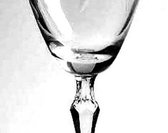 Fostoria Crystal Sweetheart Rose Eight Water Goblets Etched Glasses 7 inches Tall