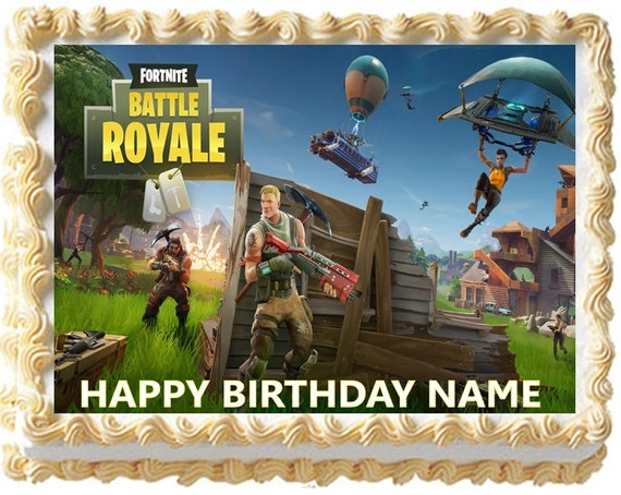 Fortnite Edible Image Cake Toppers