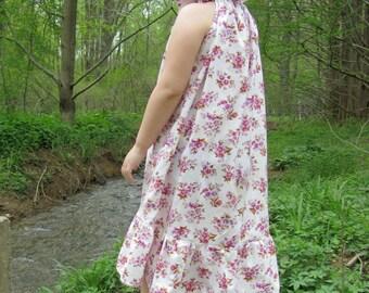 Girls maxi dress - girls dresses - girls boho dress - maxi dress - white maxi dress - Summer dress - hi low dress - boho flower girl dress