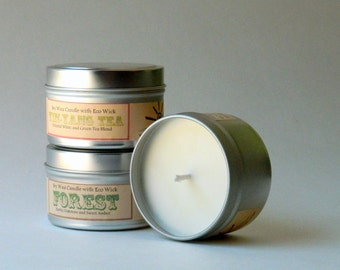 Soy Candle Gift Set For Her / Relaxing Scented Candle Travel Tins / Christmas Candle Set