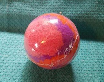 Mango bath bomb, mango bath fizzy, bath bomb ball
