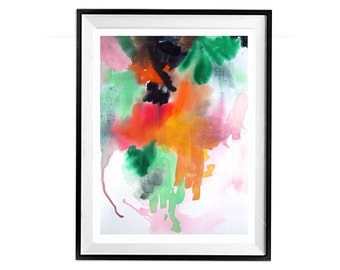 Bold Abstract, Expressionist, Modern Art,  Art sale, Original, Abstract painting, Bright colors, bold theme, AbstractsByLaBerge, 22x16