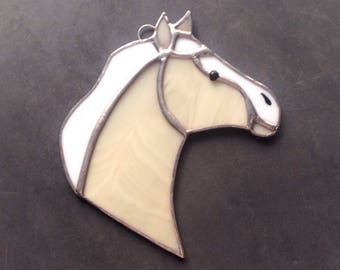 Horse decor, horse gifts, palomino horse, horse ornaments, equine decor, western ornaments, horse suncatcher, western decorations, tan horse