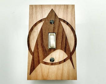 Star Trek - wooden switch plate cover