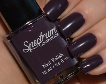 SALEM Purple Eggplant Creme Halloween Nail Polish