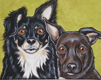 Pet Portrait Painting Custom 9x12