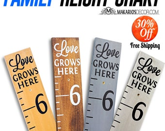 Growth chart.wooden growth chart.canvas growth chart.personalized growth chart.wood growth chart.growth chart ruler (Signature Height Chart)