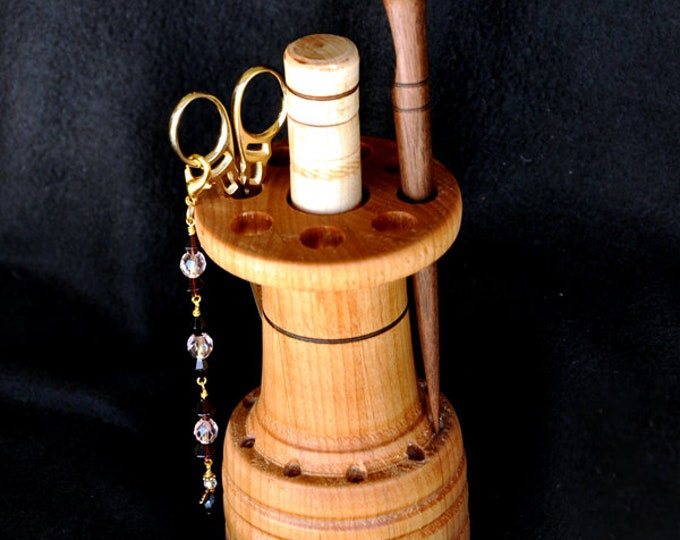 Hand made stitchery accessories holder/stand made from beautiful alder wood
